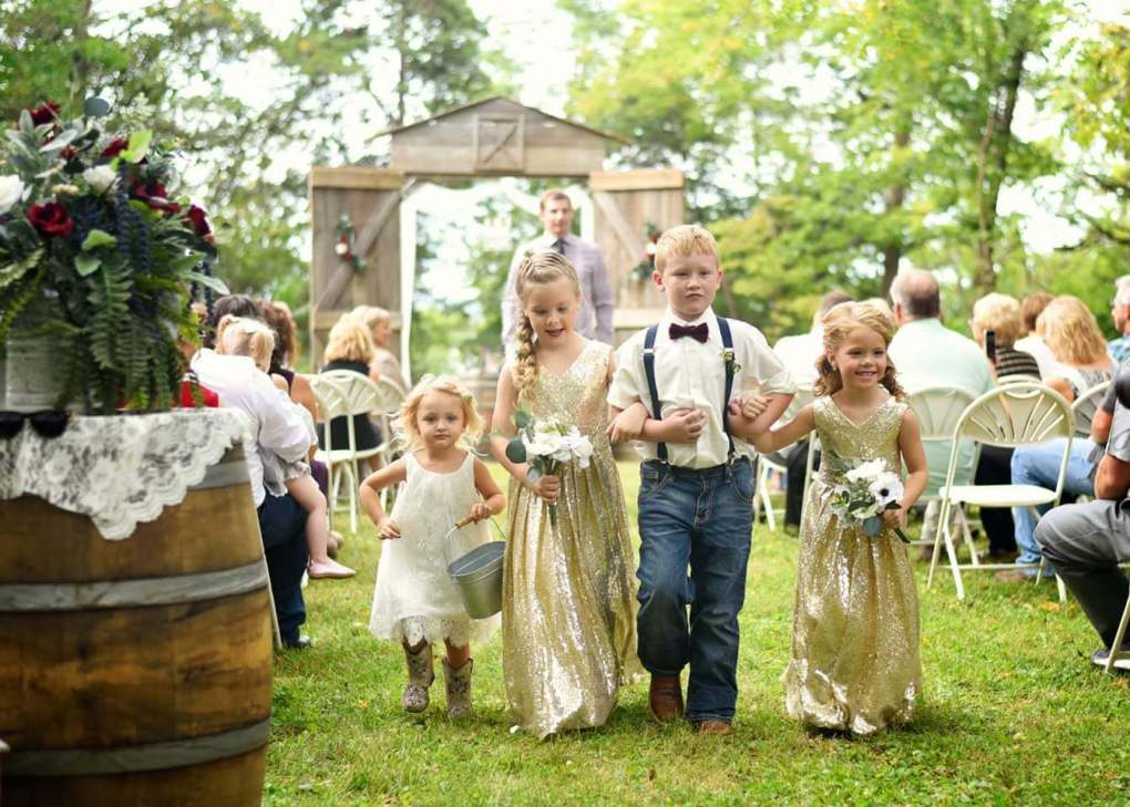 Even kids have fun participating in your special day.
